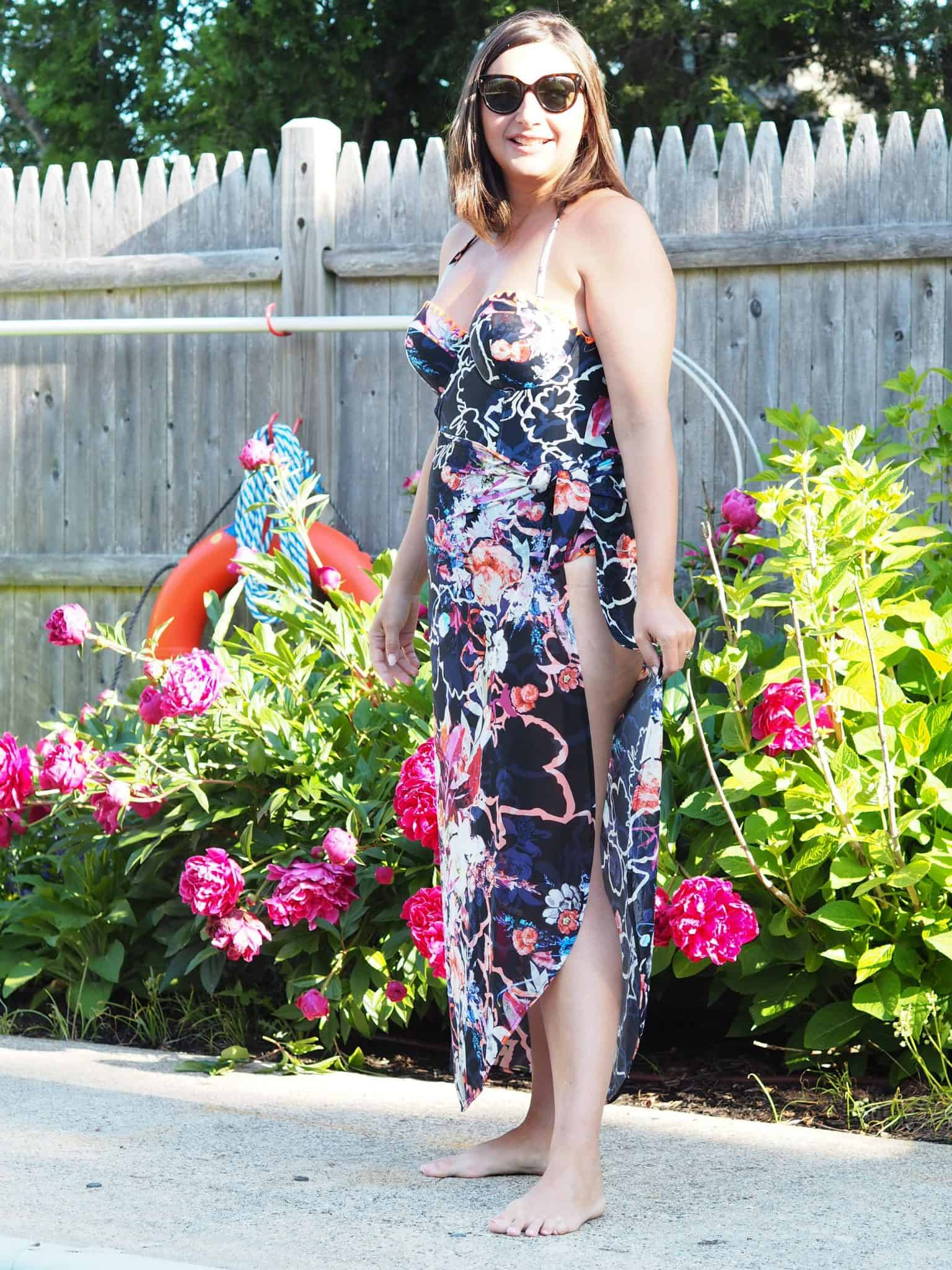Rachel Roy Floral Swimsuit