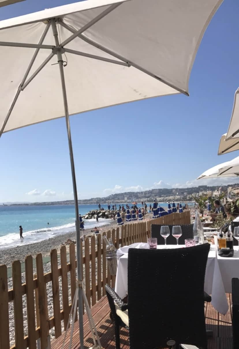Best Dining Views French Riviera | Plage Beau Rivage Nice