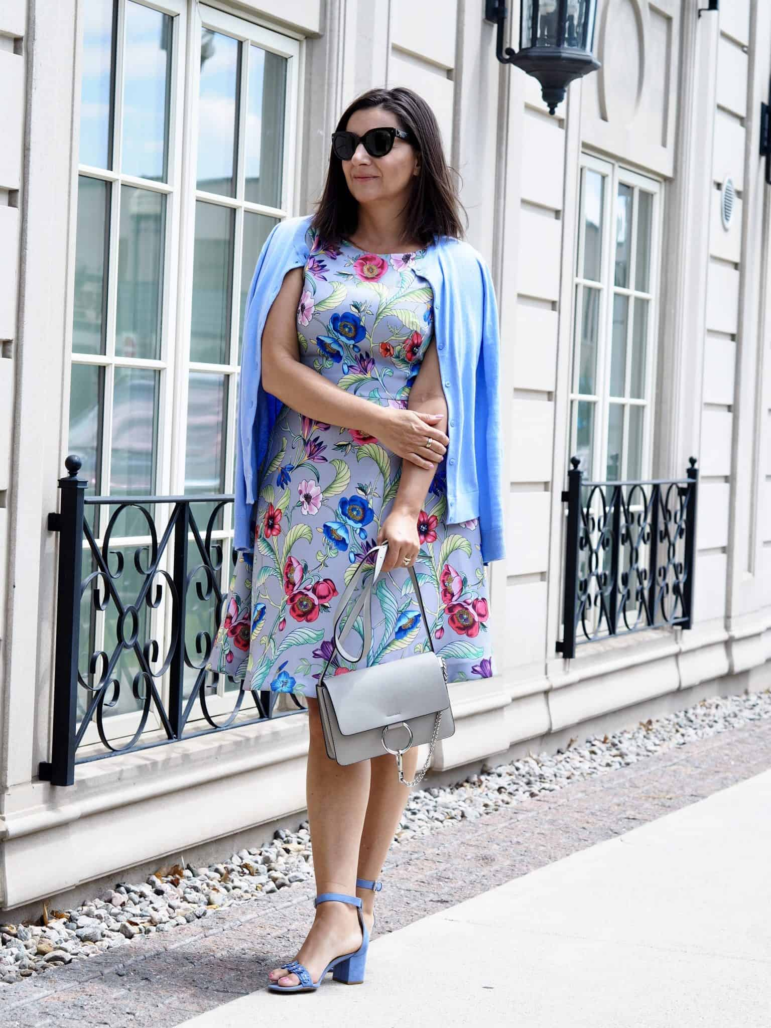 day to night floral dress