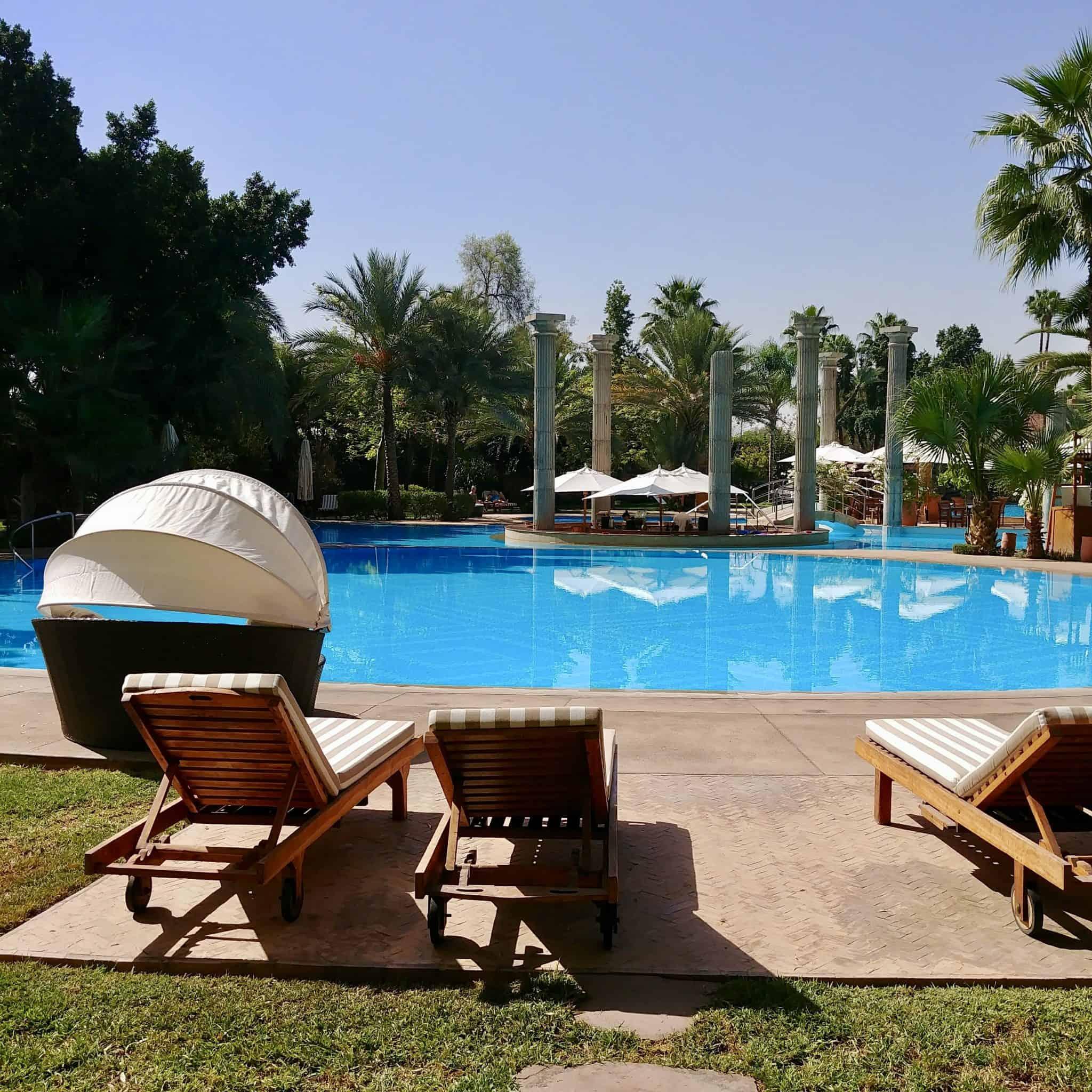 Es Saadi Marrakech blue pool views