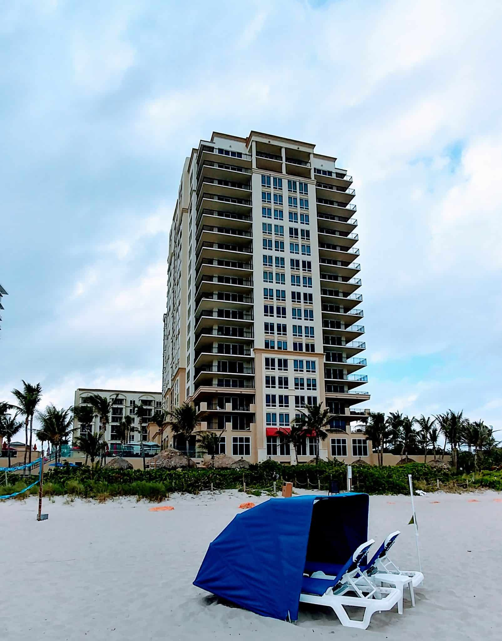 Marriott Singer Island Florida blue beach lounger
