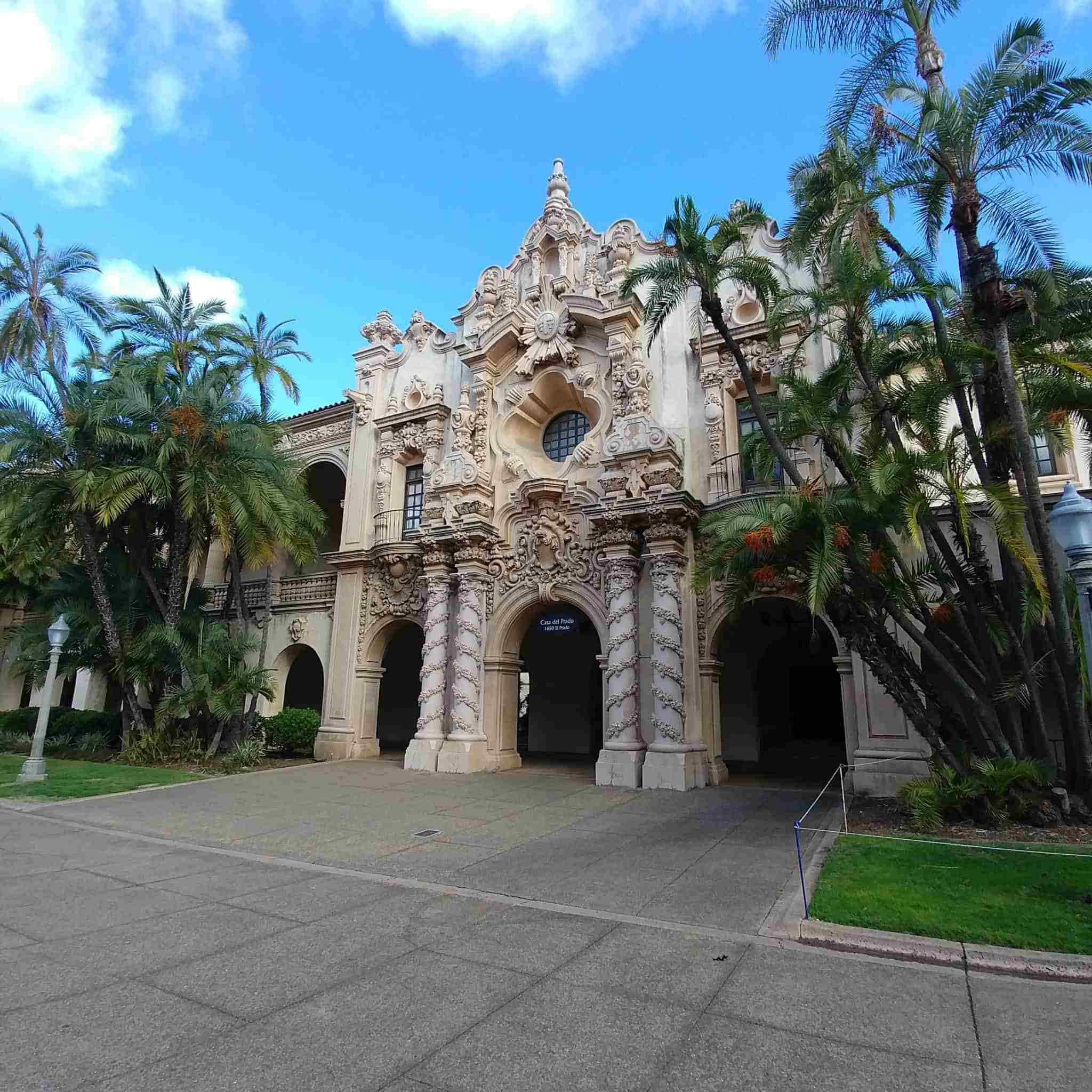 Balboa Park La Jolla California architecture buildings with palm trees
