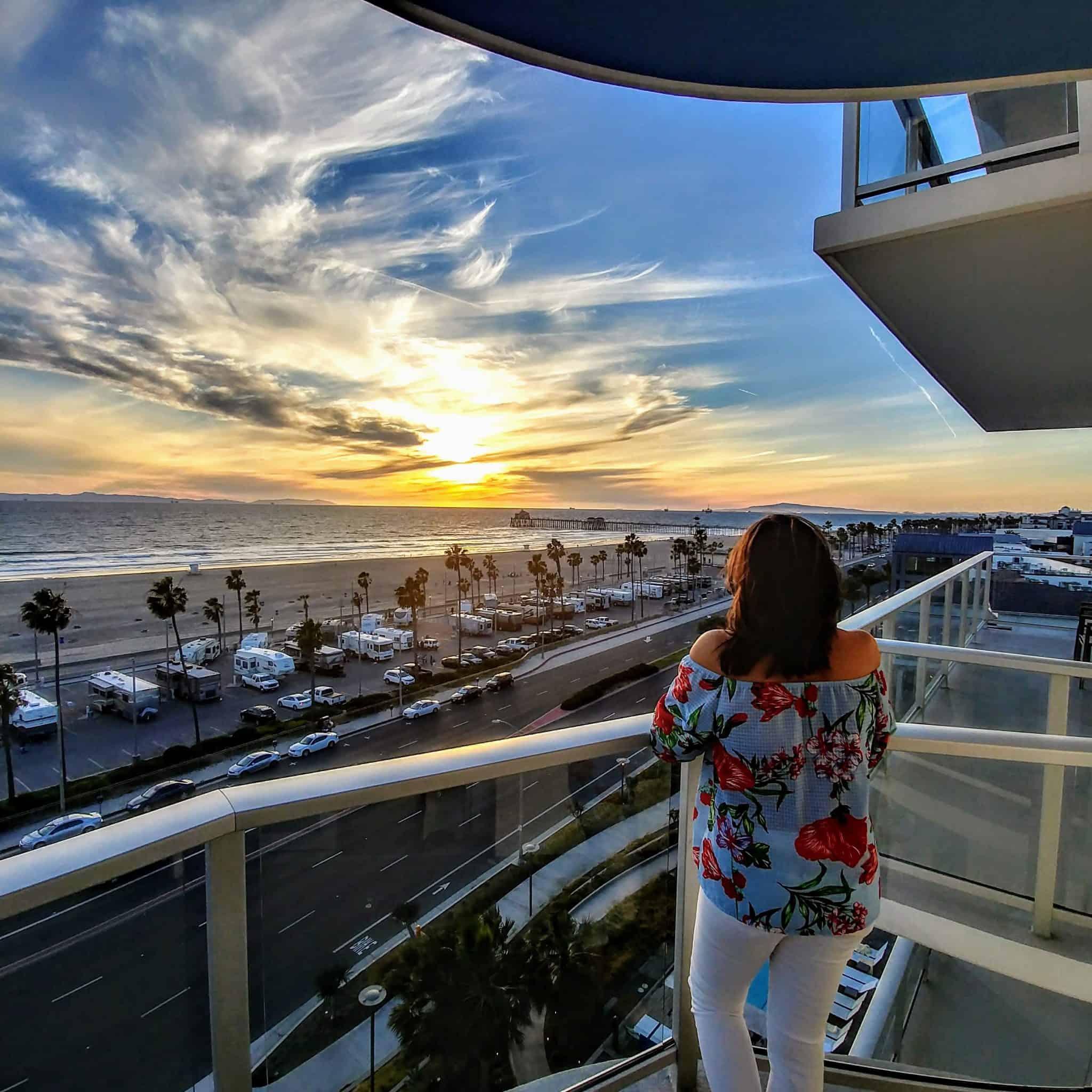 Huntington Beach Pasea Hotel Ocean room views sunset