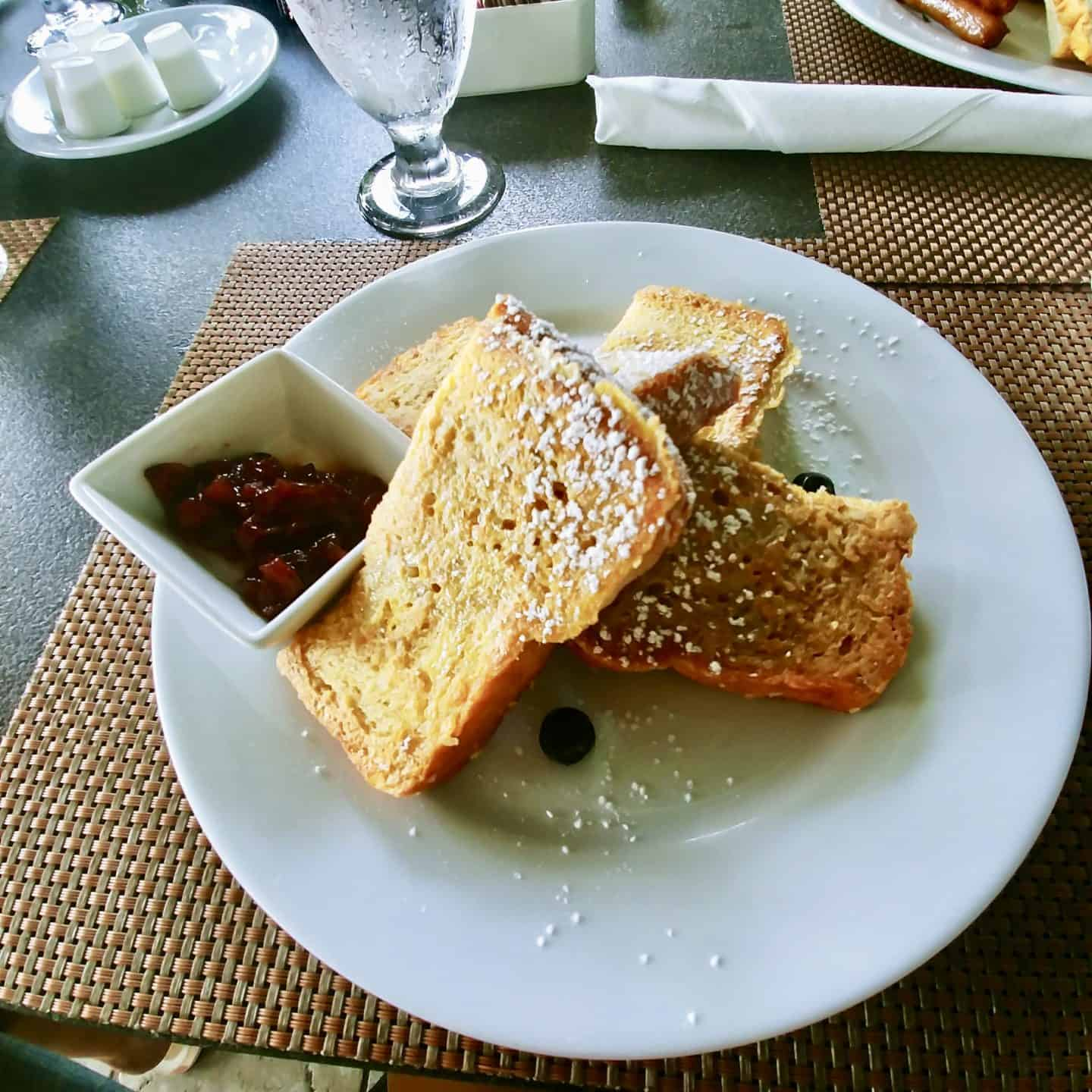 Exuma Bahamas breakfast french toast