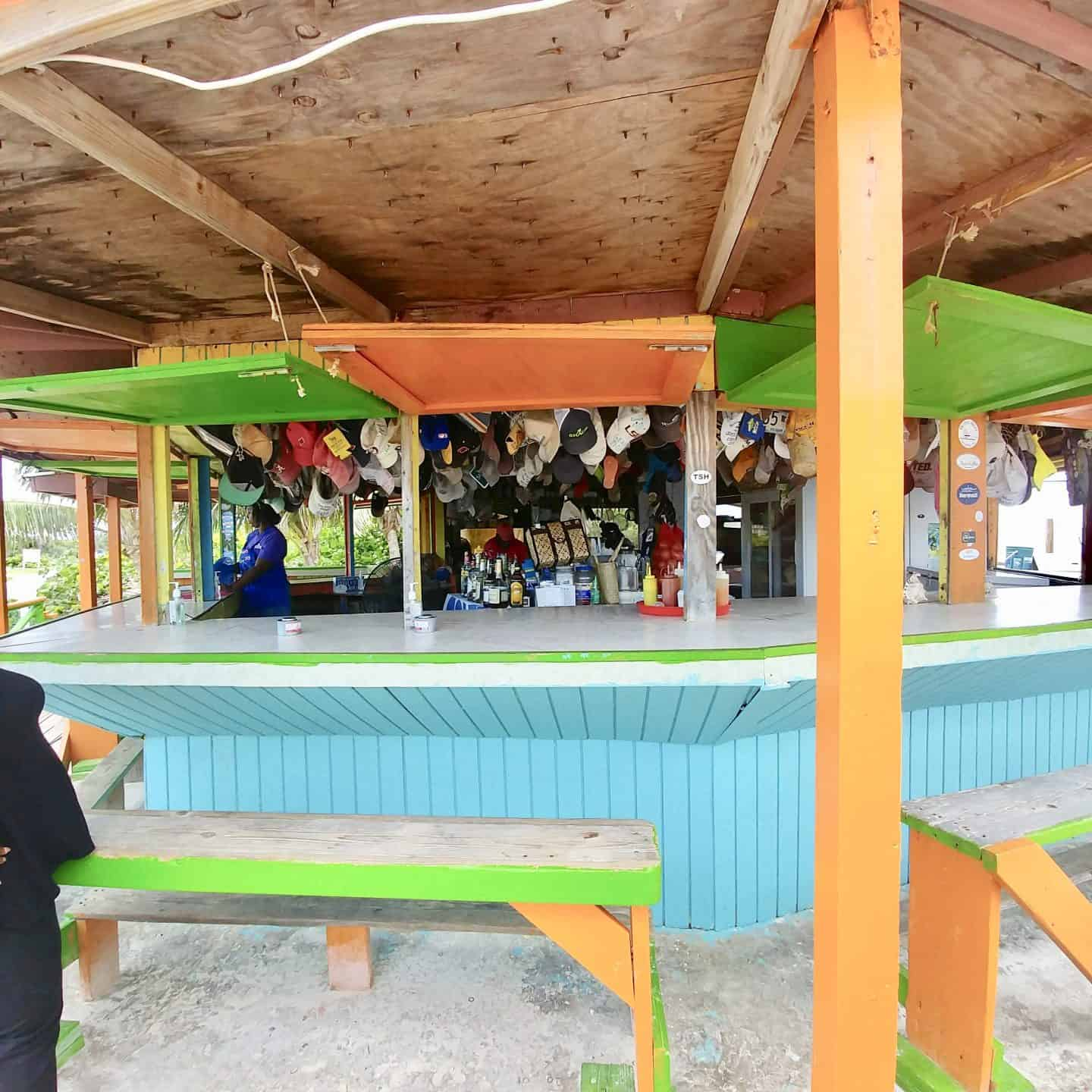 Exuma Bahamas shack beach lunch
