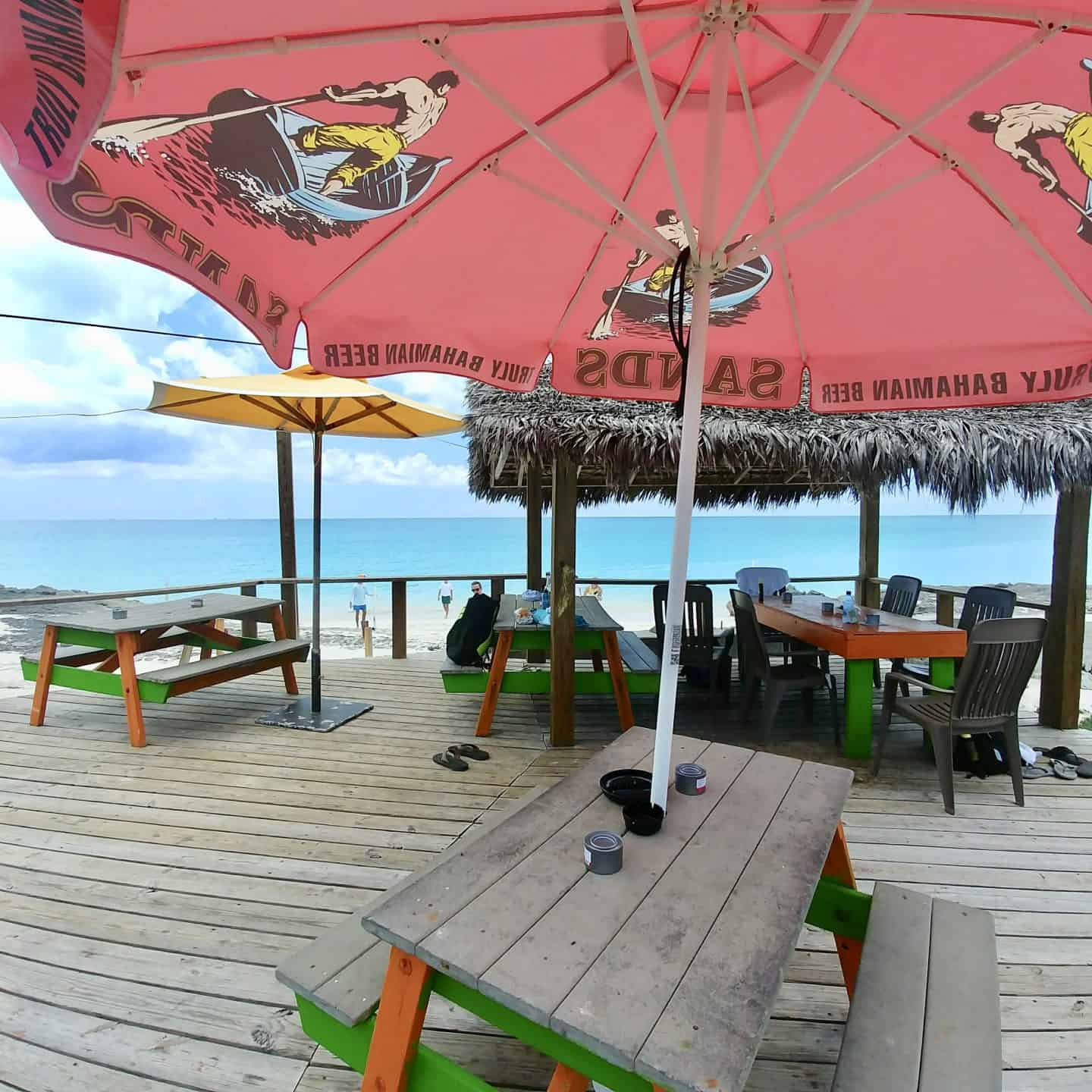 Exuma Bahamas beach lunch