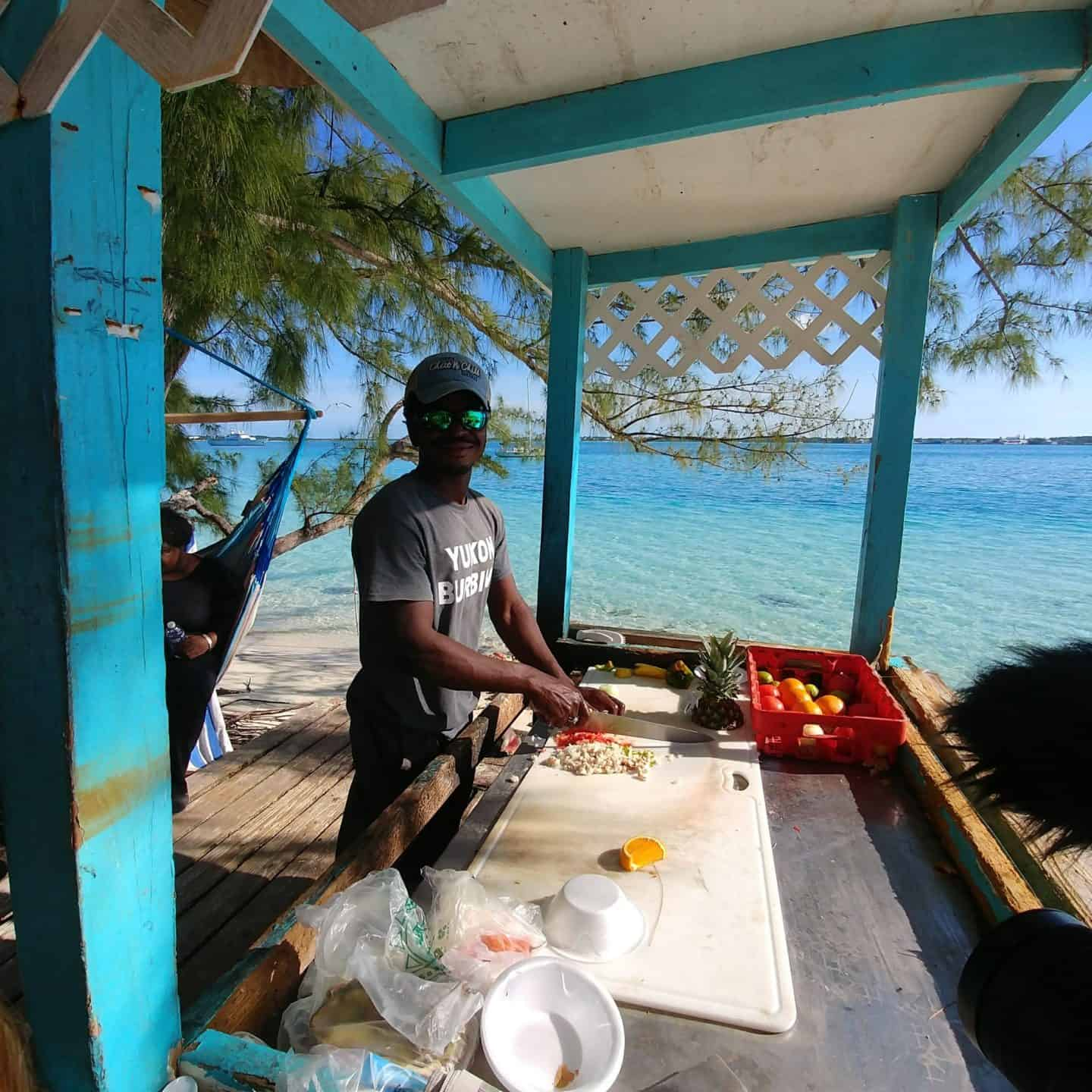 Travel Guide to The Exumas Bahamas Fresh conch made on beach