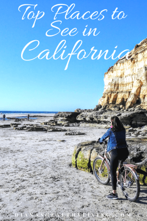 riding bike on California beach