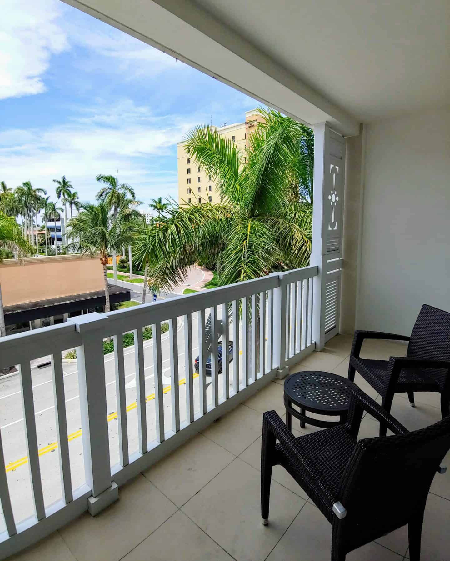Private balcony overlooking Delray