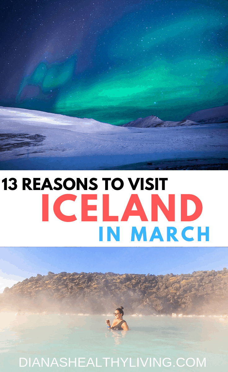 Is Iceland on your bucket list? Winter is probably the most beautiful time to visit Iceland. Chase the Northern Lights, see amazing waterfalls, soak in the Blue Lagoon and hike a glacier!! Check out the 13 Reasons to Visit Iceland In March
