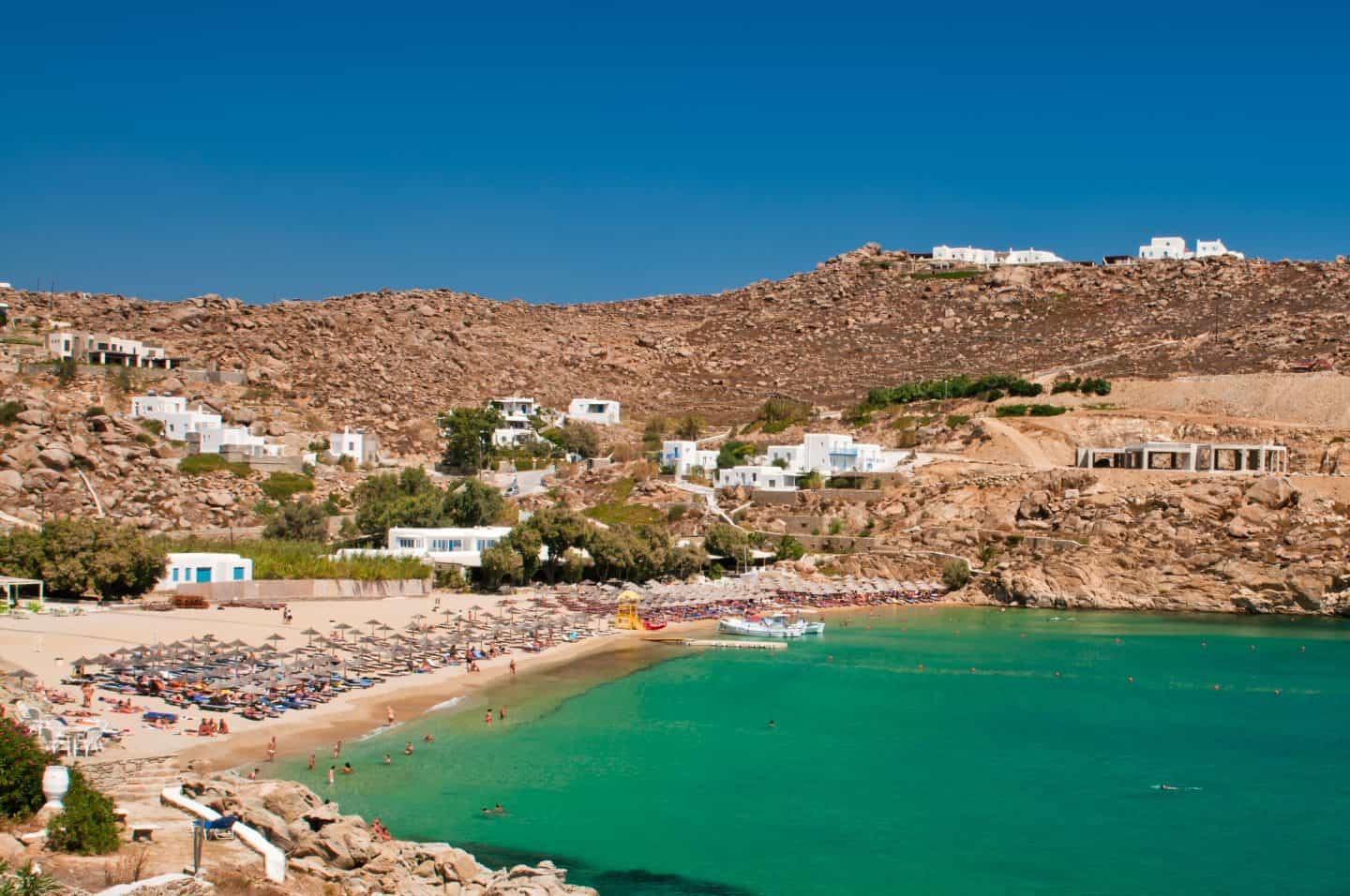 Super paradise beach with crystal waters best mykonos beaches