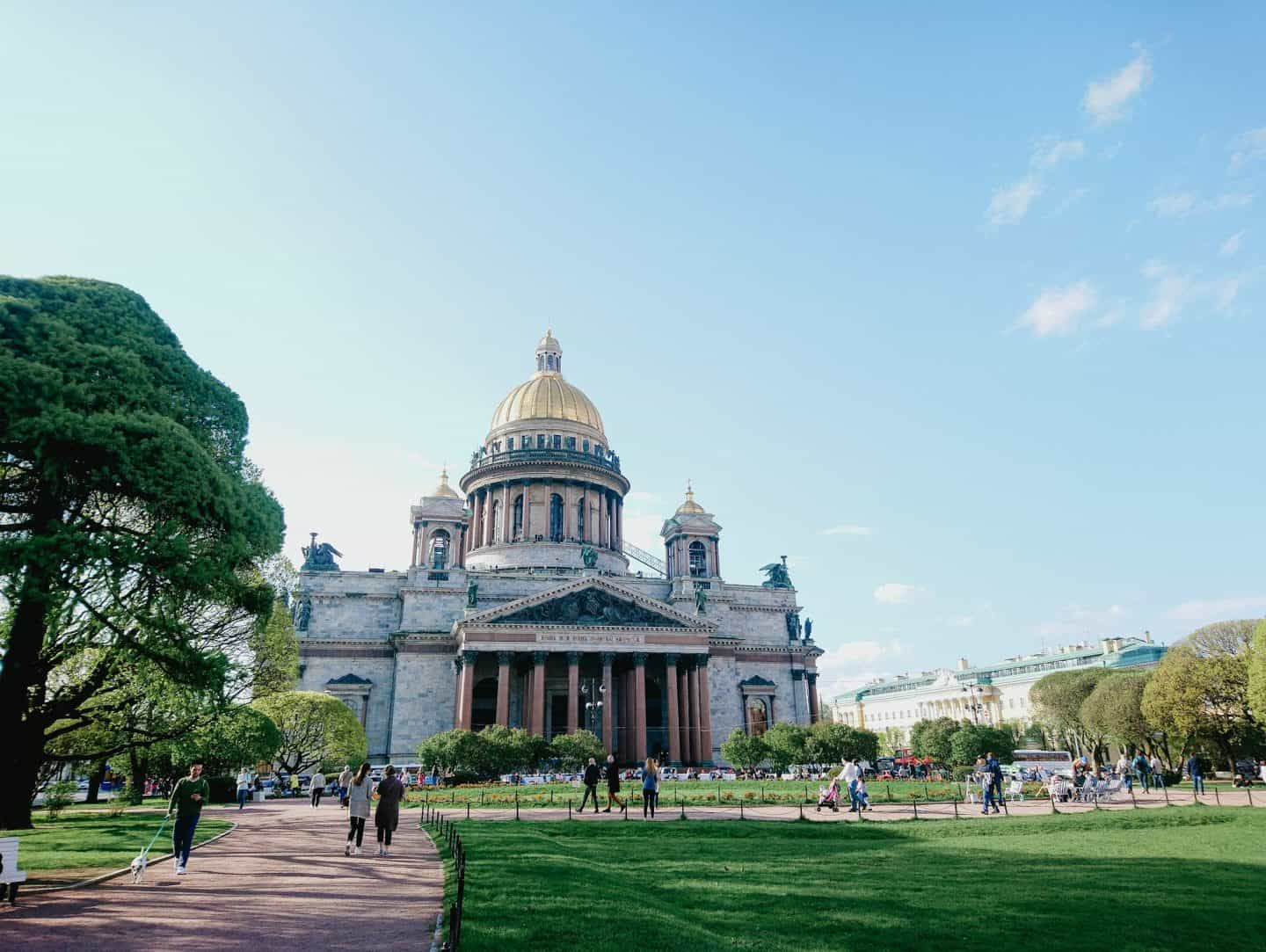 St. Isaac's Cathedral, one of the iconic sights of St. Petersburg