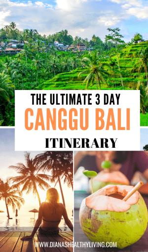 canggu bali itinerary