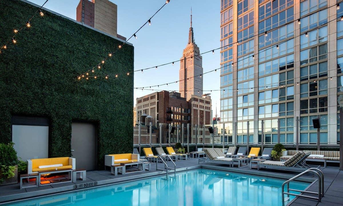 Royalton park hotel rooftop pools nyc