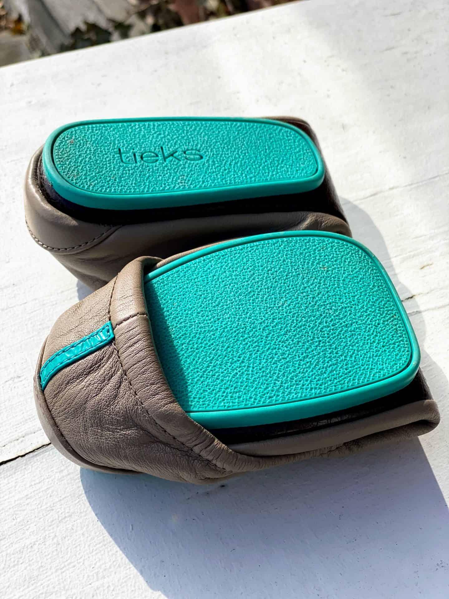 Tieks shoes blue sole
