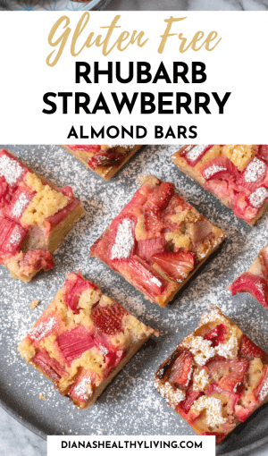 gluten free rhubarb strawberry almond bars