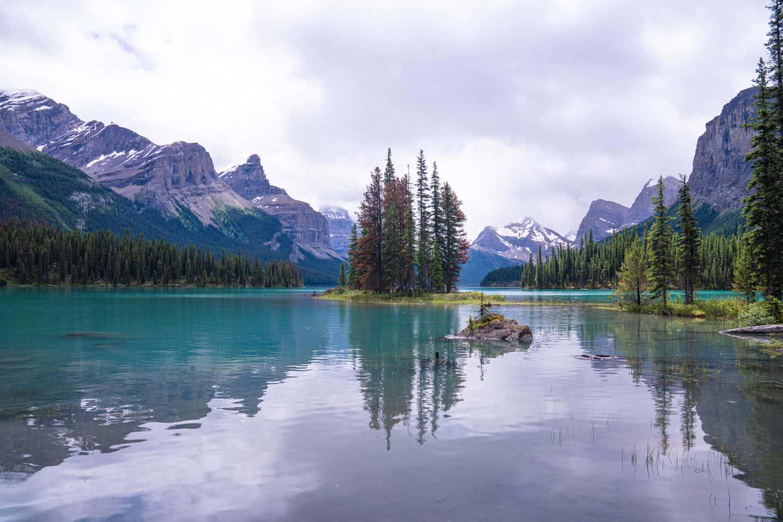 Spirit Island Jasper National Park  Alberta Canada