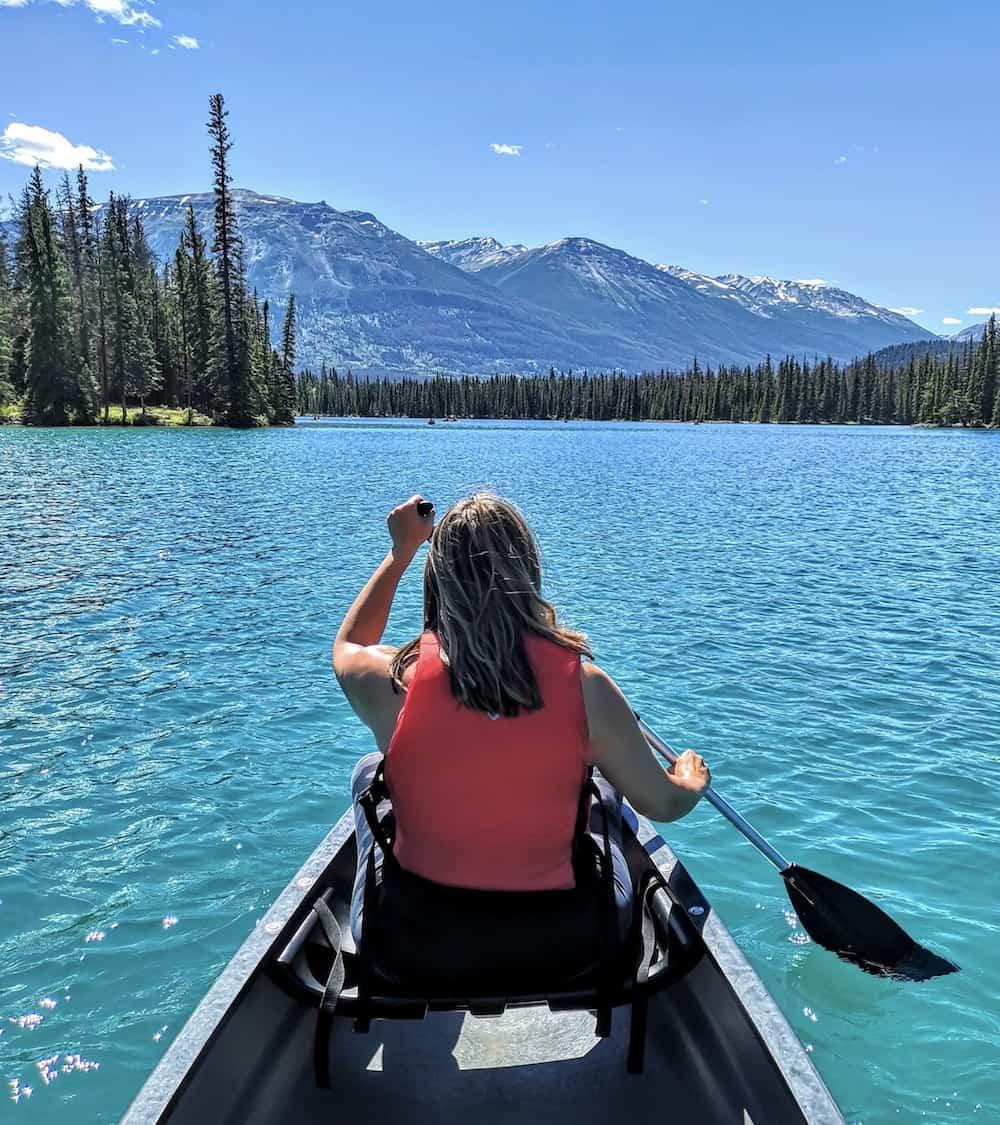 Jasper National park Fairmont canoe