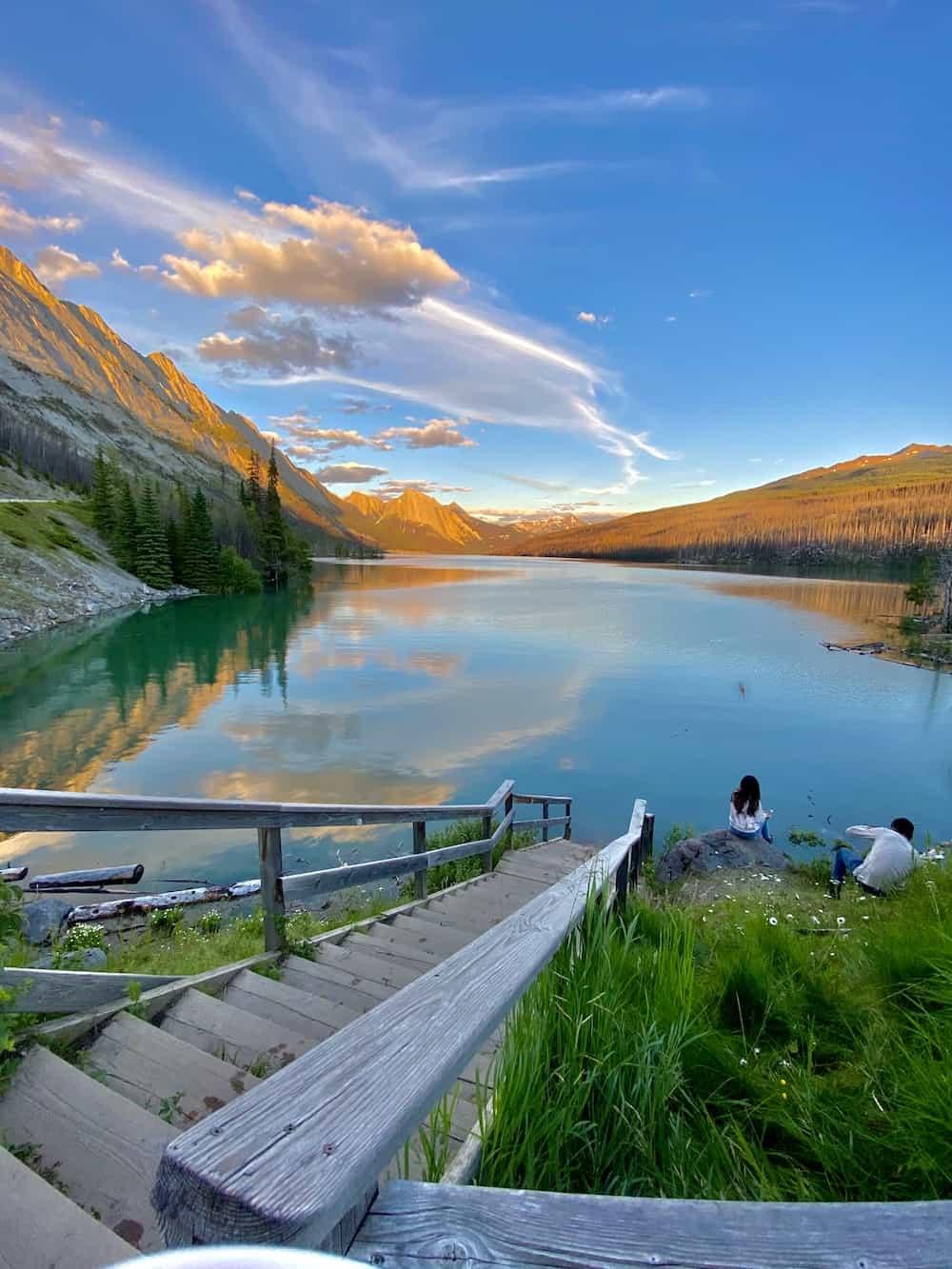 Sunset in Jasper Alberta Canada
