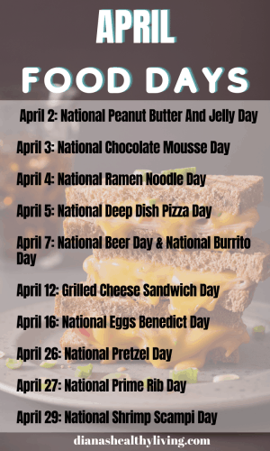 TODAY IS NATIONAL WHAT DAY NATIONAL FOOD DAY IN APRIL NATIONAL FOOD DAYS CALENDAR OF NATIONAL FOOD DAY FOOD HOLIDAYS FOODIE HOLIDAYS NATIONAL WHAT DAY IS TODAY TODAY IS WHAT NATIONAL DAY