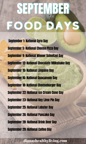 NATIONAL FOOD DAYS IN SEPTEMBER NATIONAL FOOD DAYS CALENDAR OF NATIONAL FOOD DAY FOOD HOLIDAYS FOODIE HOLIDAYS NATIONAL WHAT DAY IS TODAY TODAY IS WHAT NATIONAL DAY