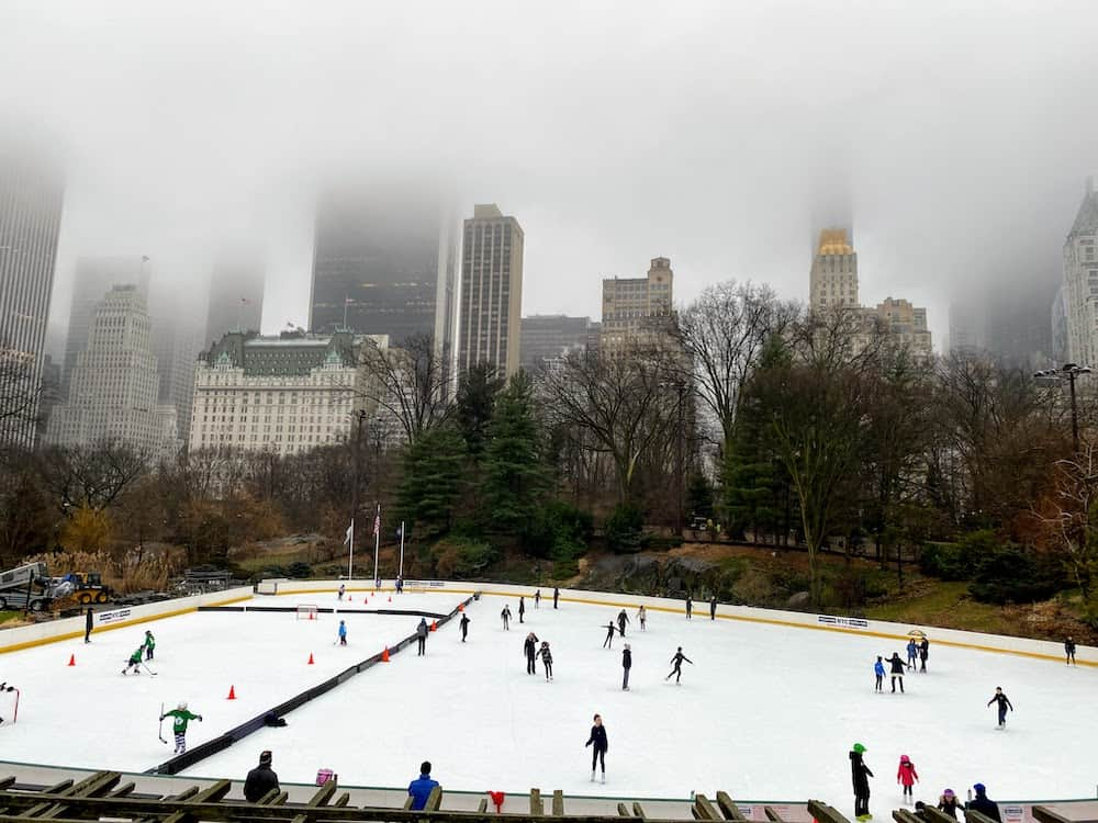 4 days new york itinerary skating in central park in january